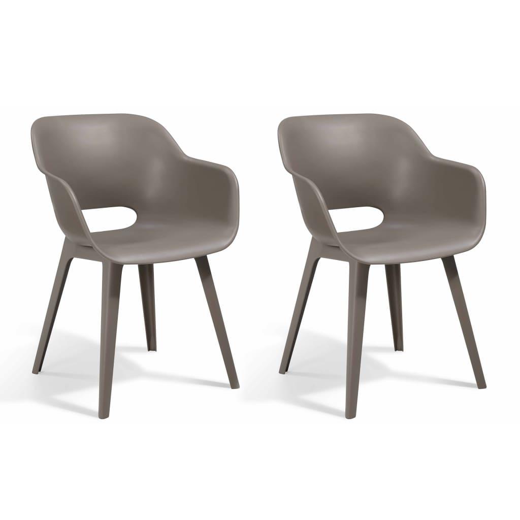 Allibert Krzesła ogrodowe Akola, 2 szt., cappuccino