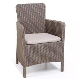 Allibert Krzesło ogrodowe Trenton, cappuccino, 226454