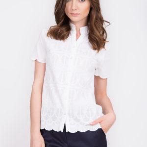 Biała haftowana bluzka