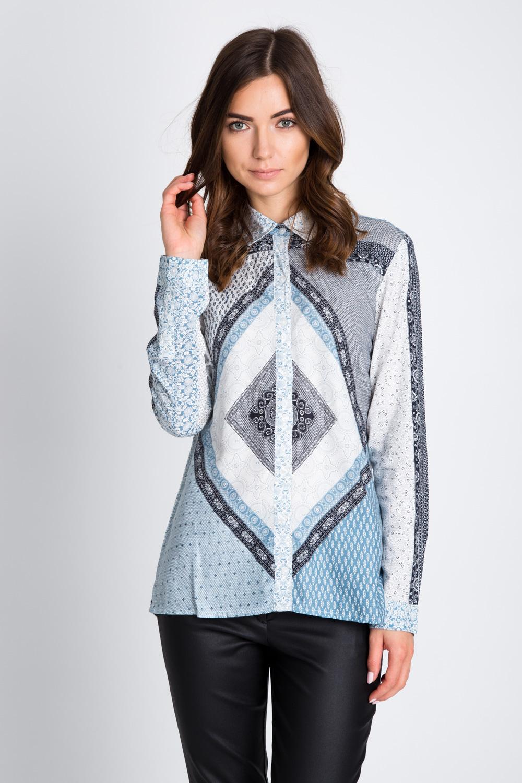 Bluzka koszulowa w orientalny wzór