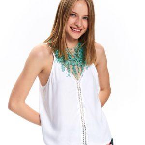 Bluzka na ramiączkach z ozdobną taśmą