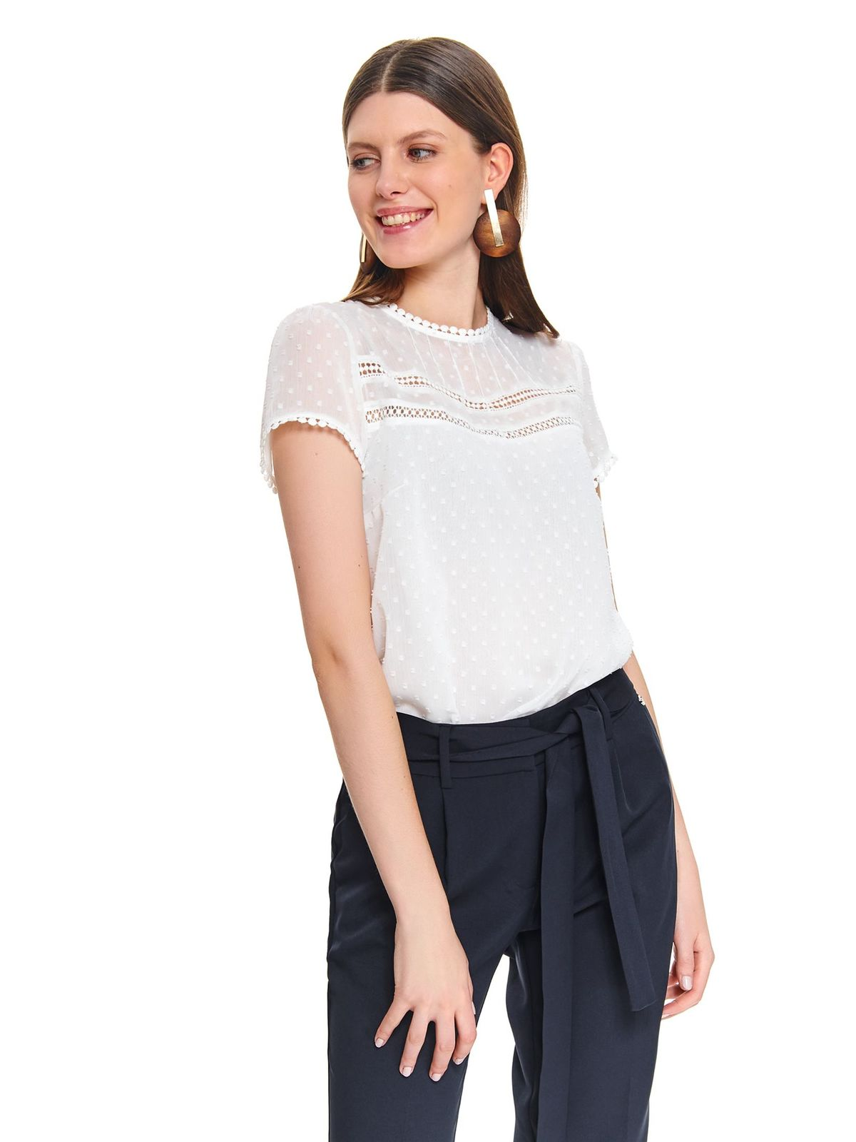 Elegancka bluzka z tkaniny plumetti