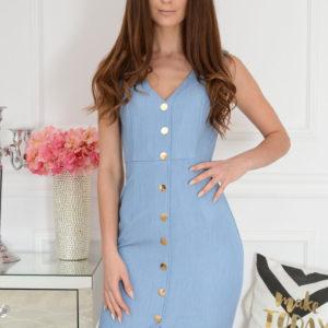 Elegancka sukienka taliowana jeans Emilie Rozmiar: S