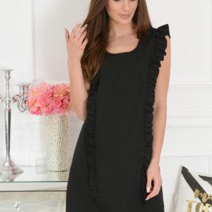 Elegancka sukienka trapezowa czarna Rita Rozmiar: S