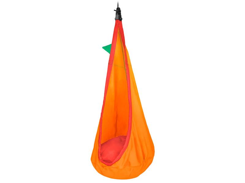 Fotel hamakowy dla dzieci JOKI z zestawem montażowym, Pomarańczowy JCD70
