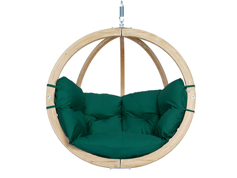 Fotel hamakowy drewniany, Zielony Globo chair weatherproof