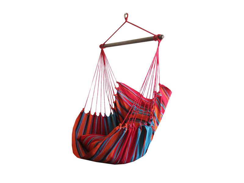 Fotel hamakowy, niebiesko-czerwony HC10