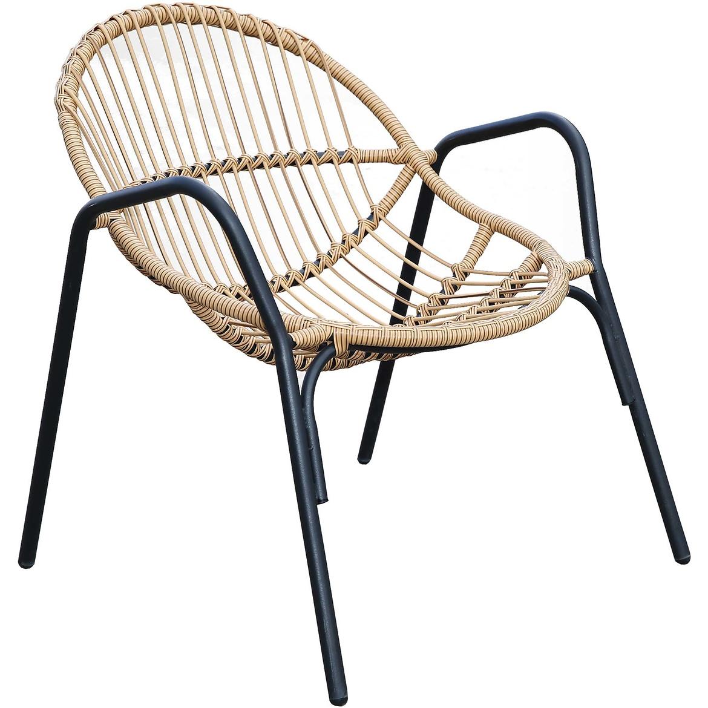 Krzesło Apis YF-9088 czarno-beżowe