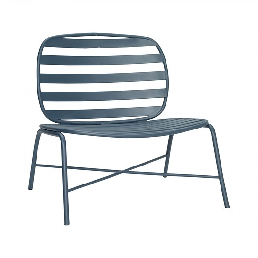 Krzesło ogrodowe Lounge Chiar Grey, 60x72x79 cm