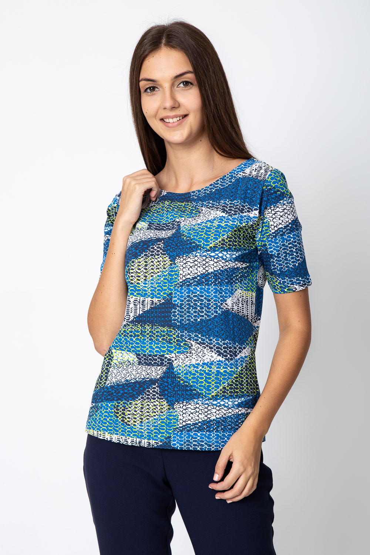 Niebieska bluzka ze wzorem