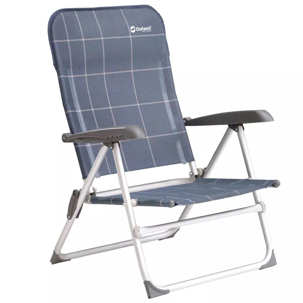 Outwell Krzesło składane Ashern, niebieskie, 51x59x85 cm, 410060