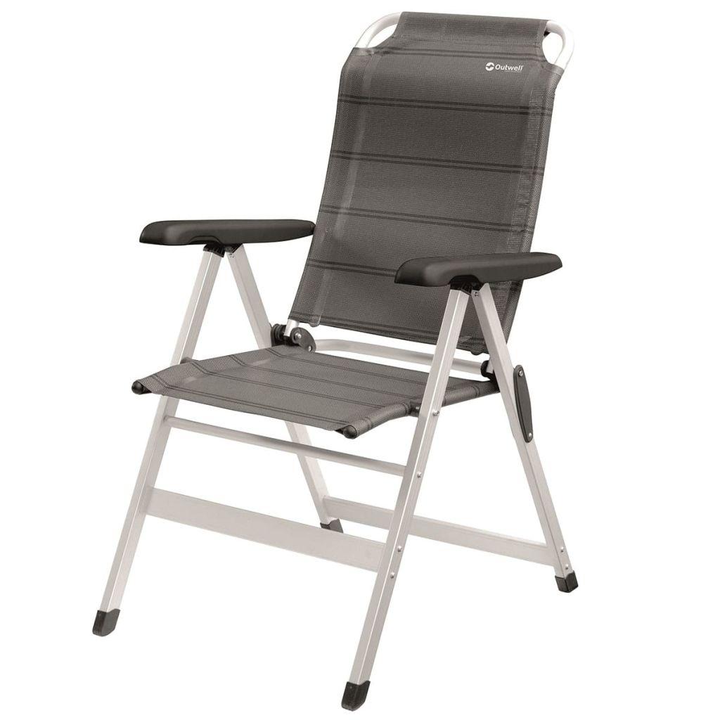 Outwell Krzesło składane Ontario, szare, 61x70x105 cm, 410078