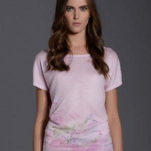 Różowa bluzka L'AF LILA