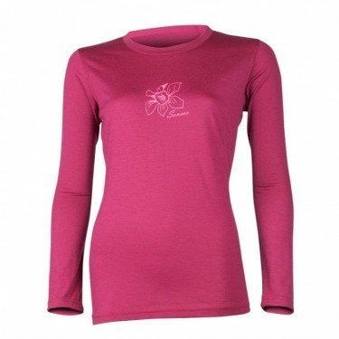 SENSOR Termoaktywna bluzka damska MERINO ACTIVE PT TEE LS - rozmiar S - kolor malinowy -