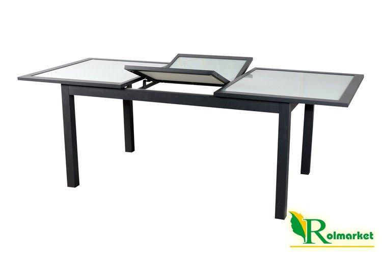 Stół ogrodowy Bahia JLT032 - stół prostokątny, rozkładany ze szklanym blatem