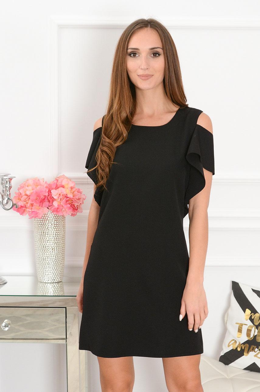 Sukienka Adria gołe ramiona czarna Rozmiar: L