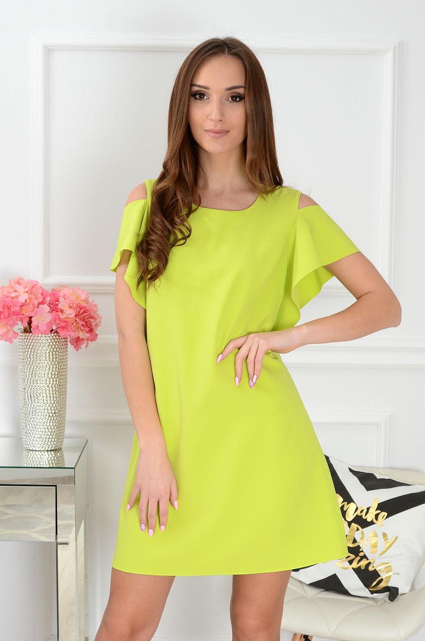 Sukienka Adria gołe ramiona limonka Rozmiar: L
