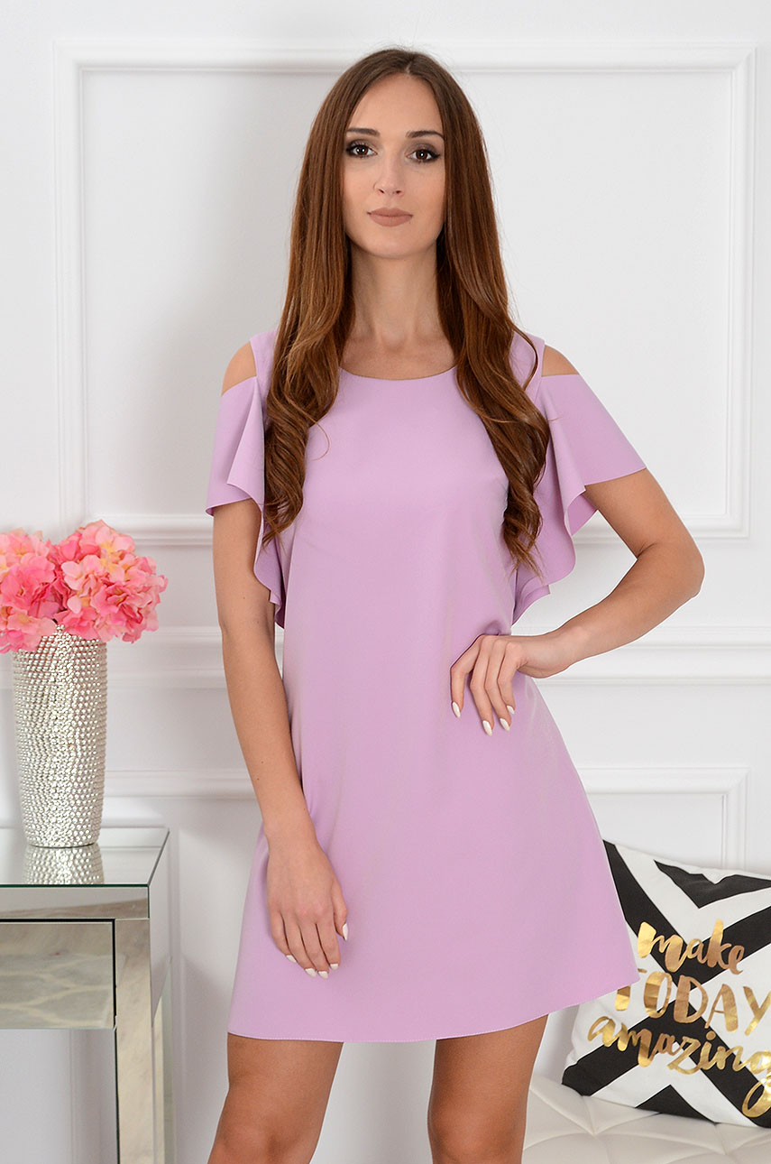 Sukienka Adria gołe ramiona wrzosowa Rozmiar: S