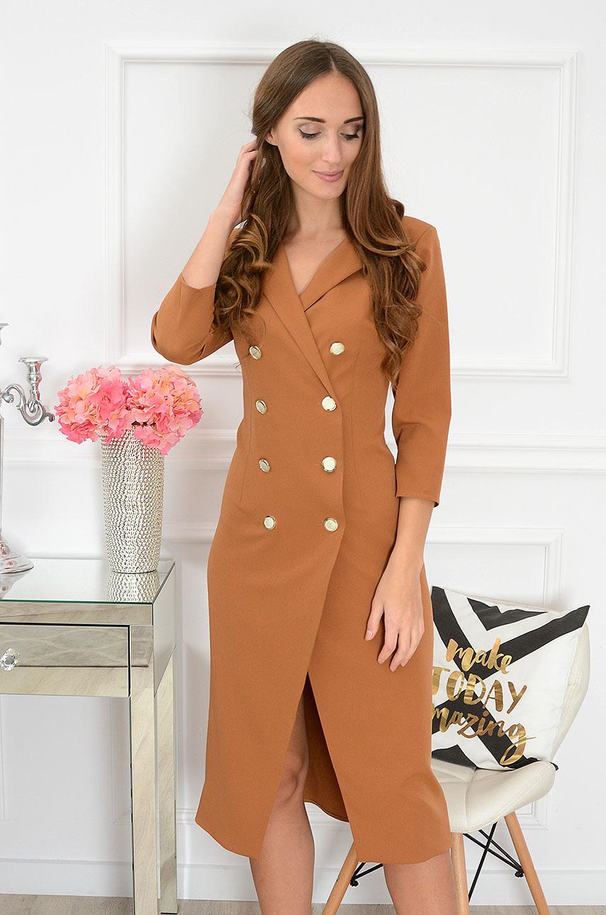 Sukienka a'la płaszczyk Andrea kamel Rozmiar: S