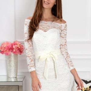 Sukienka koronkowa Veronica kremowa Rozmiar: 2XL