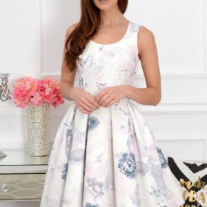 Sukienka midi w pastelowe kleksy Lindsay Rozmiar: XS