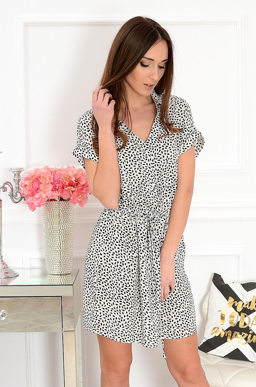 Sukienka w biało-czarny wzór Iris Rozmiar: S