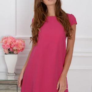 Sukienka z łezką dłuższy tył amarant Rozmiar: S