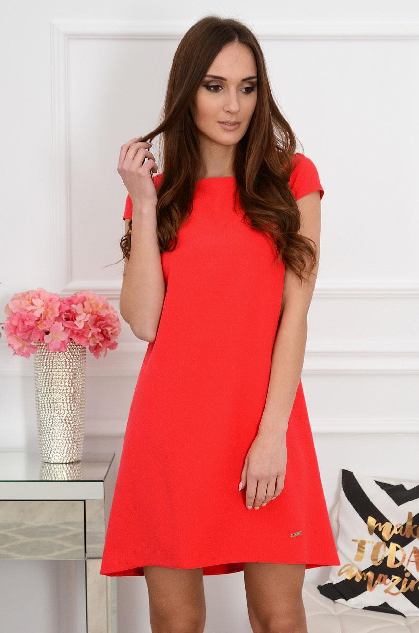Sukienka z łezką dłuższy tył czerwona new Rozmiar: S