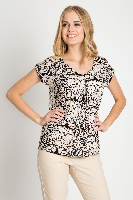 Wiskozowa bluzka ze wzorem