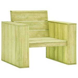 vidaXL Krzesło ogrodowe, 89x76x76 cm, impregnowane drewno sosnowe