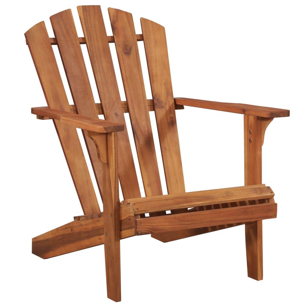 vidaXL Krzesło ogrodowe Adirondack z litego drewna akacjowego