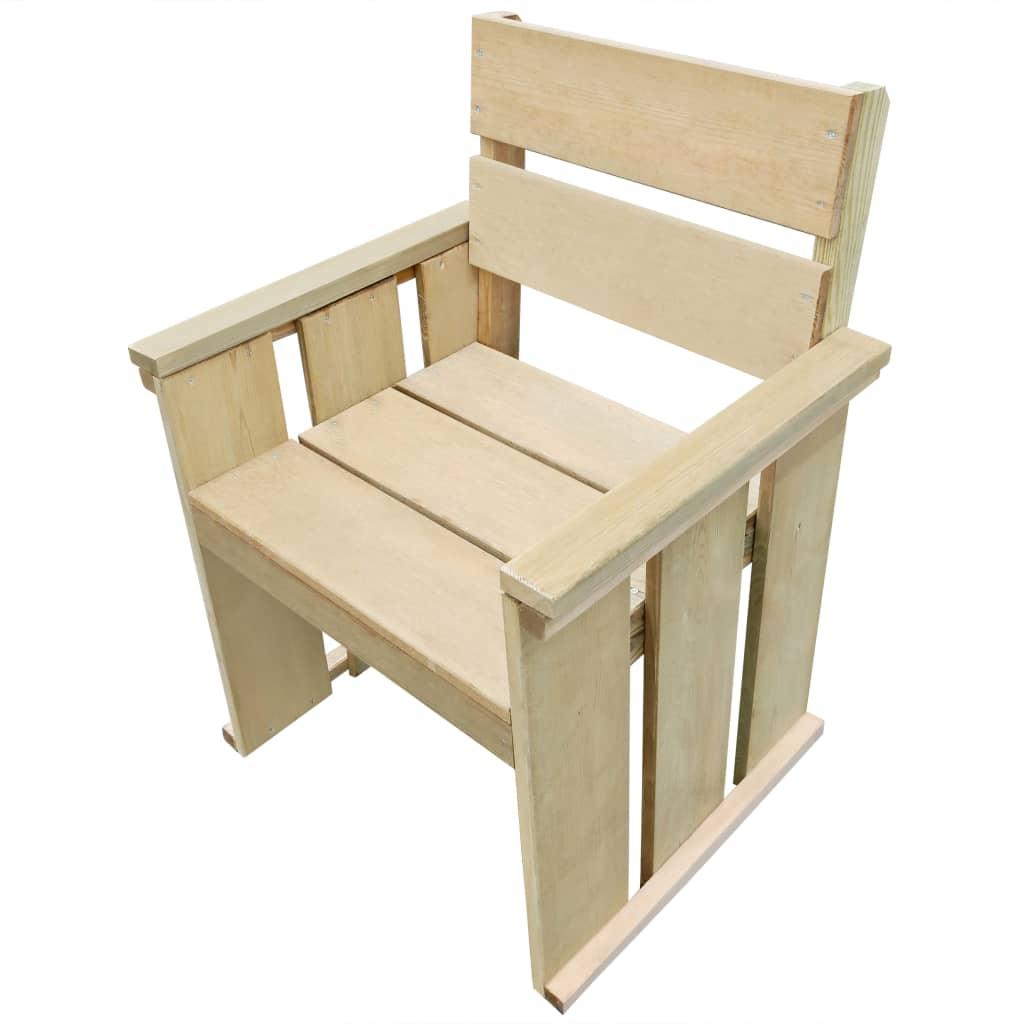 vidaXL Krzesło ogrodowe, impregnowane drewno sosnowe