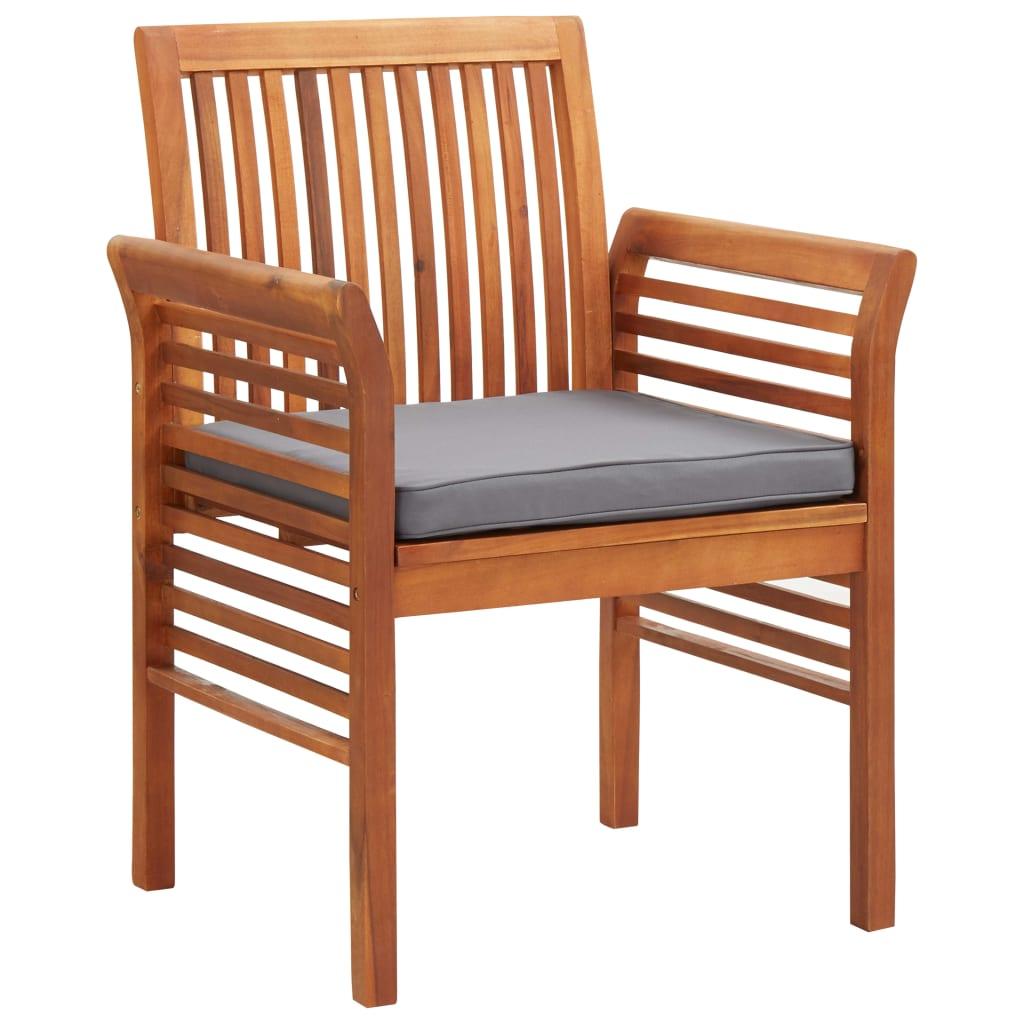 vidaXL Krzesło ogrodowe z poduszką, lite drewno akacjowe