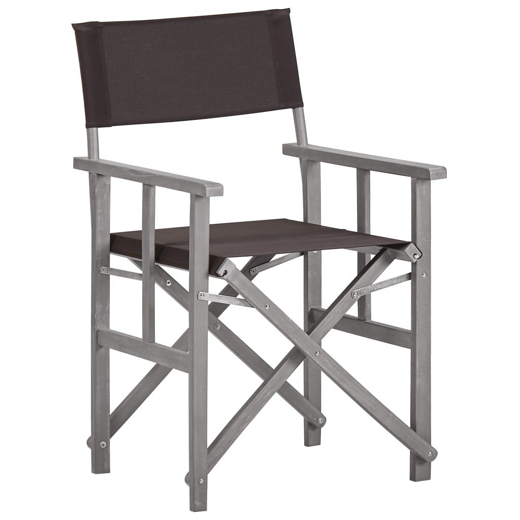 vidaXL Krzesło reżyserskie, lite drewno akacjowe