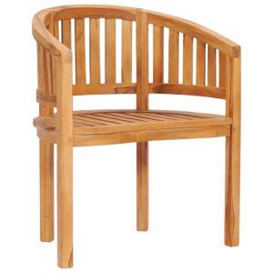 vidaXL Krzesło w kształcie banana, lite drewno tekowe