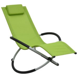 vidaXL Leżak dla dzieci, stalowy, zielony
