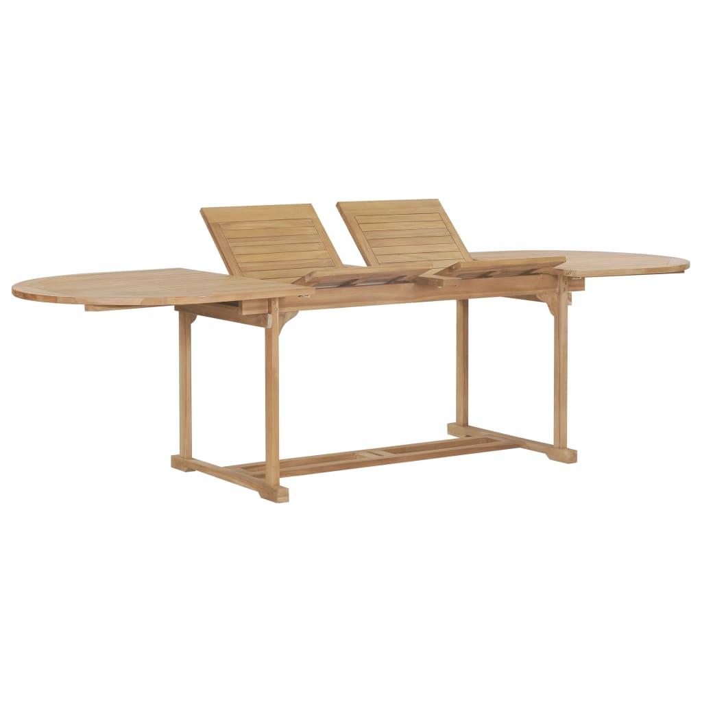 vidaXL Rozkładany stół ogrodowy, 180-280x100x75 cm, lite drewno tekowe