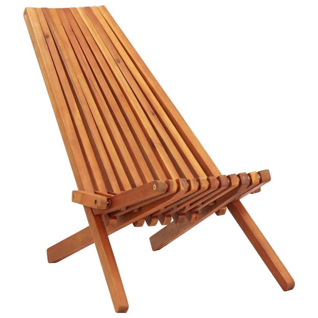 vidaXL Składane krzesło ogrodowe, lite drewno akacjowe