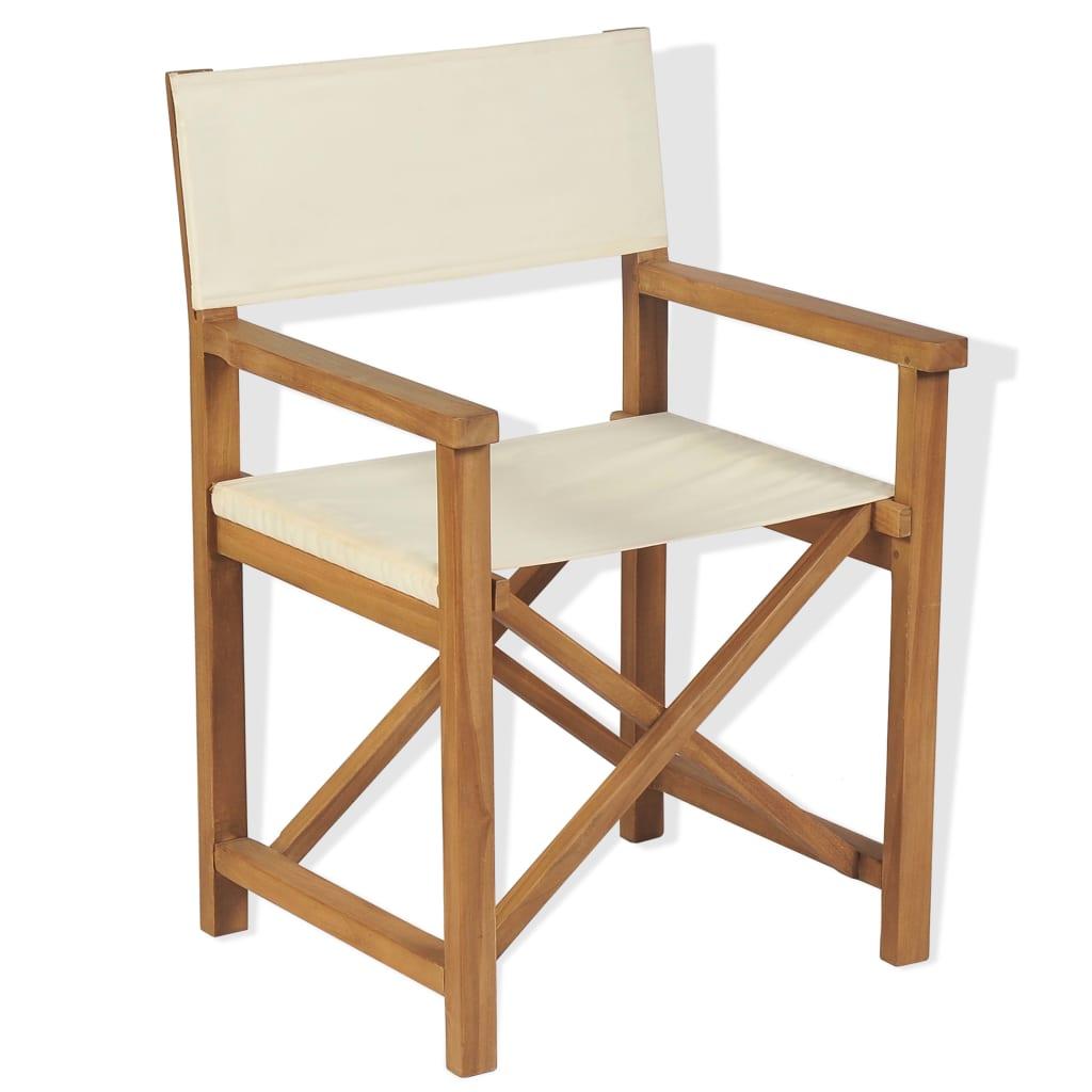 vidaXL Składane krzesło reżyserskie, lite drewno akacjowe