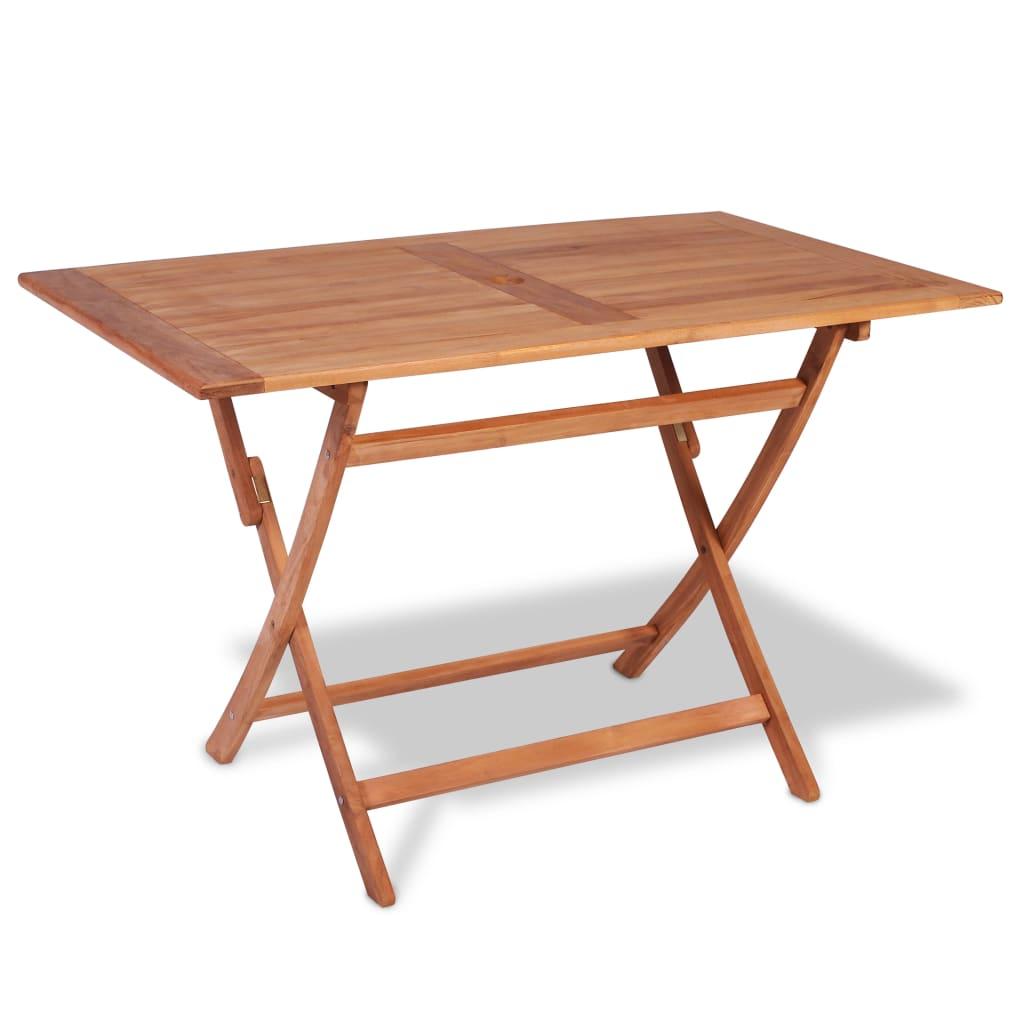 vidaXL Składany stół ogrodowy, 120x70x75 cm, lite drewno tekowe