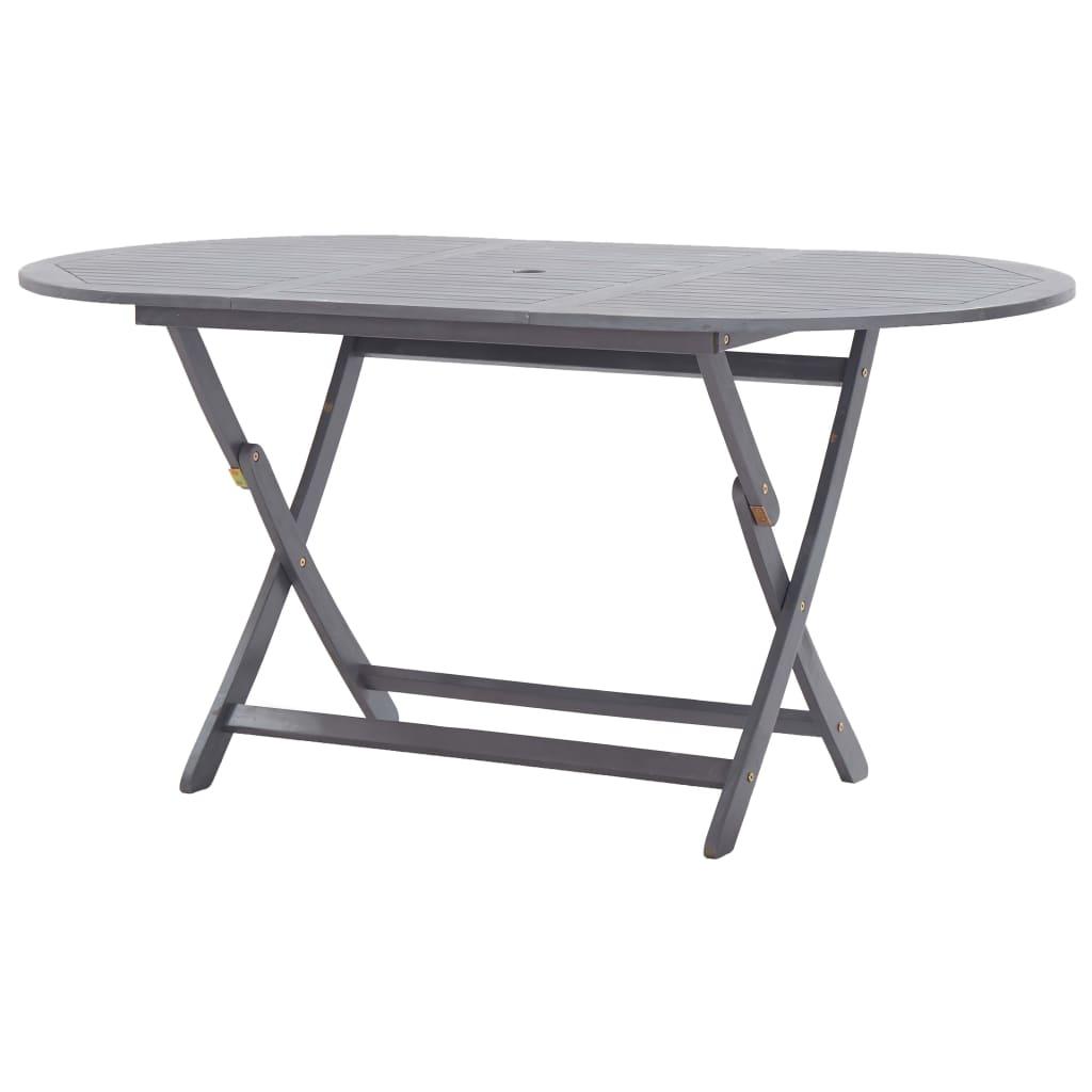 vidaXL Składany stół ogrodowy, 160x85x75 cm, lite drewno akacjowe