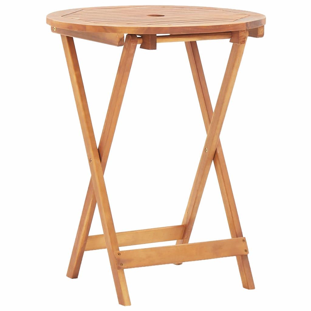 vidaXL Składany stół ogrodowy, 60 x 75 cm, lite drewno akacjowe