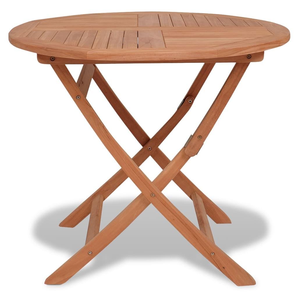 vidaXL Składany stół ogrodowy, 85x76 cm, lite drewno tekowe
