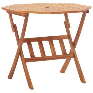 vidaXL Składany stół ogrodowy, 90x75 cm, lite drewno akacjowe