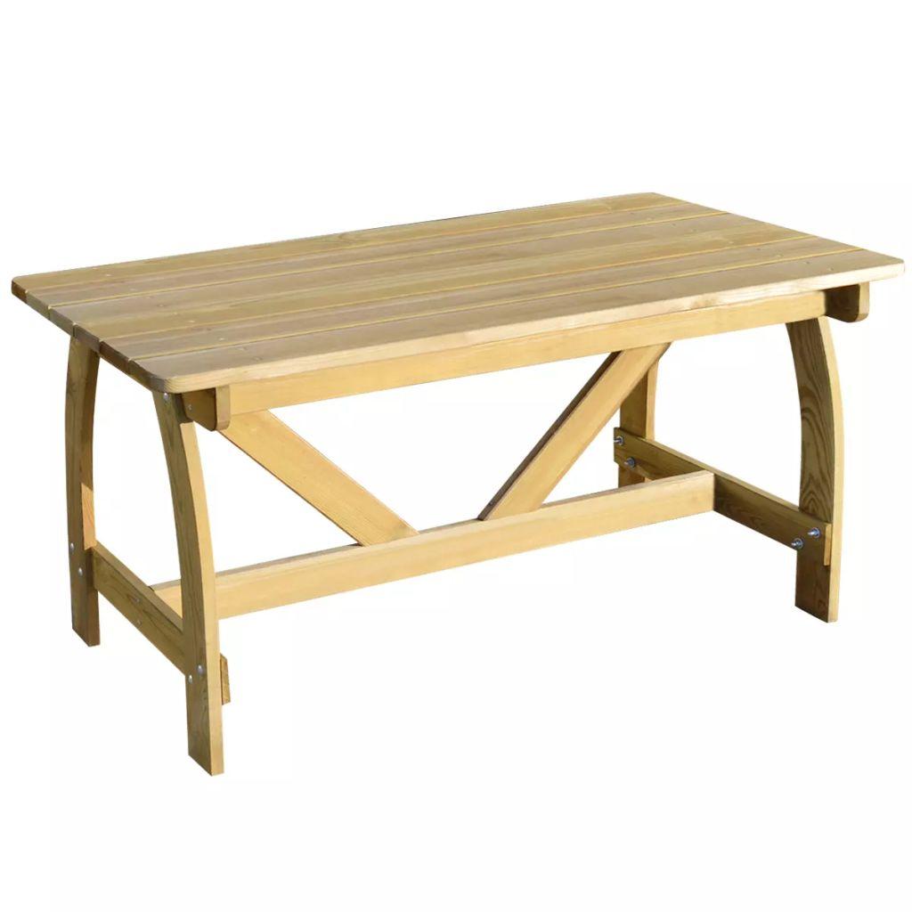 vidaXL Stół ogrodowy, 150x74x75 cm, impregnowana sosna FSC