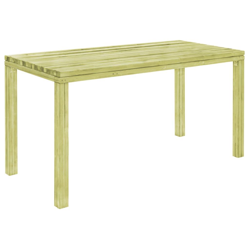 vidaXL Stół ogrodowy, 150x75,5x77 cm, impregnowana sosna FSC