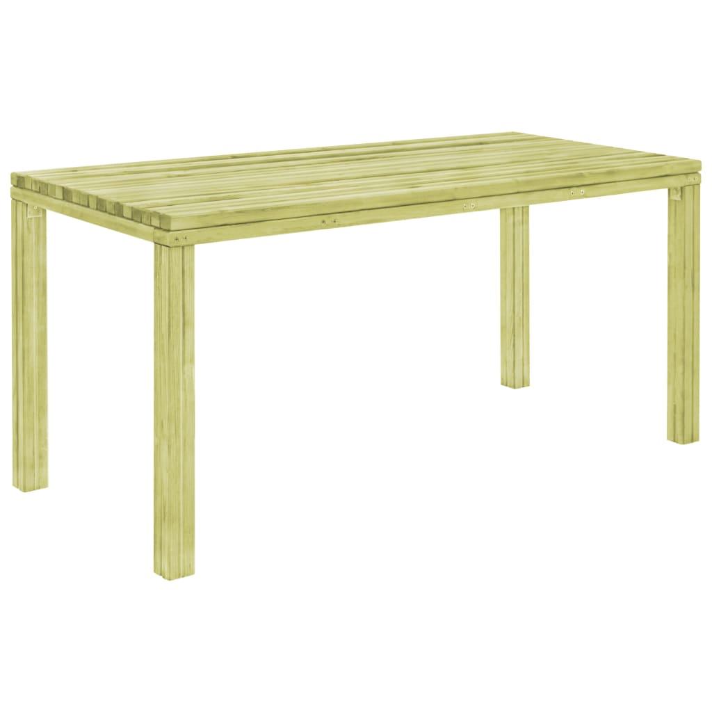 vidaXL Stół ogrodowy, 170x75,5x77 cm, impregnowana sosna FSC