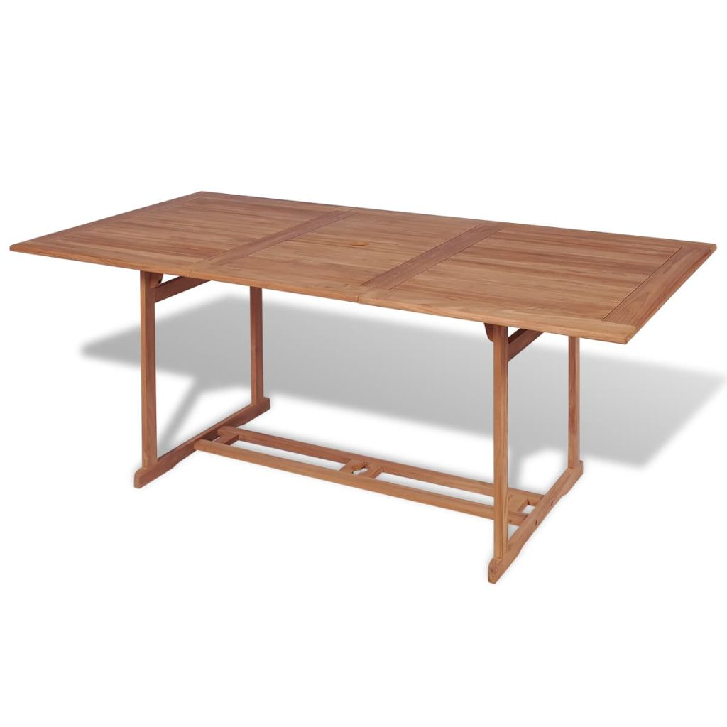 vidaXL Stół ogrodowy, 180 x 90 x 75 cm, lite drewno teakowe
