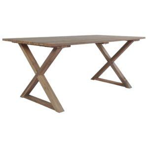 vidaXL Stół ogrodowy, 180x90x76 cm, lite drewno tekowe z odzysku