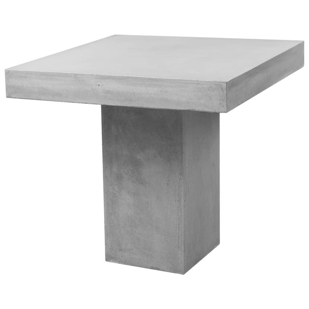 vidaXL Stół ogrodowy, szary, 80x80x75 cm, betonowy